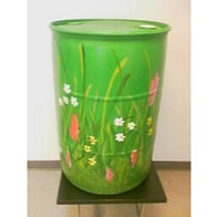 55 Gallon Plastic Rain Barrel